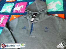 ADIDAS TEAM GB ISSUE -TRAINING FOR RIO 2016- ATHLETE HOODED RUGBY 7'S SWEATSHIRT