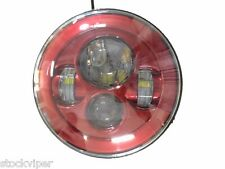 7 INCH MOTORCYCLE PROJECTOR DAYMAKER RED LED LIGHT BULB HEADLIGHT for Harley