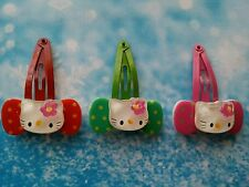 3 Pcs Cute Hello Kitty Snap Clips