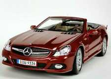 MERCEDES SL 550 R230 CABRIOLET RED METAL 2008 FACELIFT II MAISTO 31169 1/18 ROT