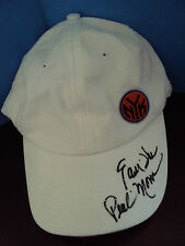 EARL THE PEARL MONROE NEW YORK KNICKS AUTOGRAPHED WHITE MSG GIVEAWAY HAT   COA