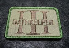 OATHKEEPER 3 PERCENTER USA ARMY 3% THREE TACTICAL MORALE MILITIA HOOK PATCH