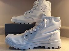 Men's Cocaine White Canvas Boots Size 9.5 Palladium Yeezy 950 Hip Hop Fire Style