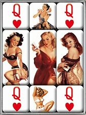 Set Calamite PIN UP CUORE DAMA Girls,9 teilig in Scatola,NUOVO