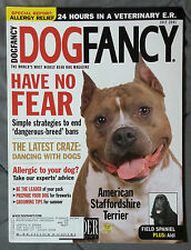 Dog Fancy Magazine 2001 July Staffordshire Terrier Pit Bull Field Spaniel Aidi