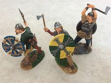 Set of Three 54mm Painted Metal Vikings by Conte Collectibles
