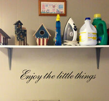 Vinyl Enjoy the Little Things Wall Decal Quotes Home Decor Saying Living Room