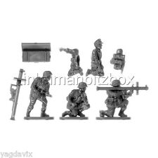 GLHW5 PANZERSCHRECK + 4 CREWS + BASE M GERMAN LATE FLAMES OF WAR BITZ PSC 15mm