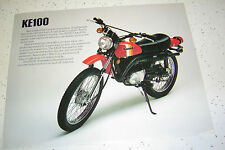 1981 Kawasaki KE100cc Sales Brochure,Genuine NOS, 2Pages.
