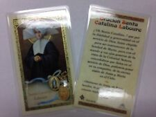 HOLY PRAYER CARDS FOR ST. CATHERINE LABOURE SET OF 2 IN SPANISH (SANTA CATALINA)