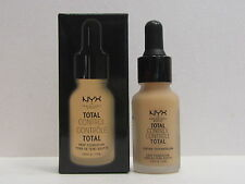 NYX Total Control Drop Foundation color TCDF07 Natural 0.43 oz New In Box