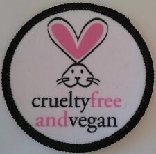 CRUELTY FREE AND VEGAN Patch parche liberacion animal liberation vegetarian peta