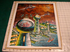 "Orig '78 Science Fiction Art: luma dye painting PAUL S WEINER-""just another day"""