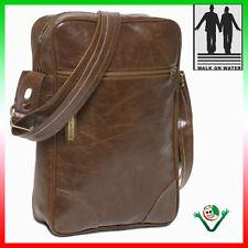 Custodia borsa tracolla per iPad 1 2 3 4 COFFEE Walk on water pelle custodia