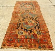"ANTIQUE EARLY 19th CENTURY TRIBAL OLDEST BIJAR ORIENTAL RUG SIZE 4' 7"" x 10'"