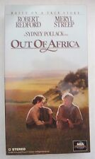 Out of Africa ~  Robert Redford Meryl Streep VHS MCA Universal 80350