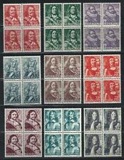 Netherlands 1943-44 Sc# 252/60 Portraits blocks 4 MNH