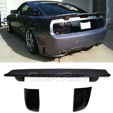 For 05-09 Ford Mustang Unpainted Black 3 Pcs Rear Wing Spoiler R Style Brand New