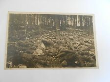 ww1 German photographic postcard  of many  fallen    near chateau thierry