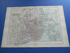 100% ORIGINAL LARGE HULL MAP  BY  BACON C1890 VGC
