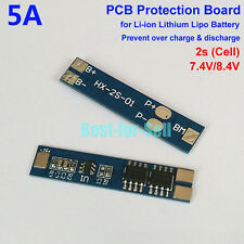 2S 5A 7.4V 8.4V Li-ion Lithium Battery 18650 Charger BMS Protection PCB Board