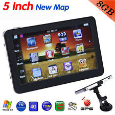 "5"" Car Navigation Navigator System GPS Sat Nav 8GB 128MB FM North America Maps"