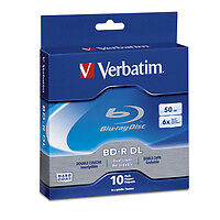 Verbatim Blu-Ray BD-R DL 97335 50GB 6X Branded 10-Pack Spindle Box