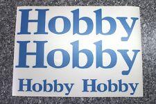 Hobby Wohnmobil, Reisemobil oder Wohnwagen Aufkleber in blau