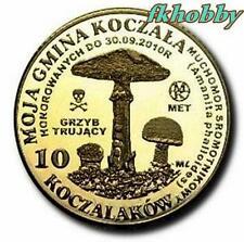 Polonia 2010 coins 10 Kocz. Muchomor Mushroom Pilze (odw)
