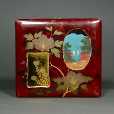 Antique Japanese Wooden Lacquered Box
