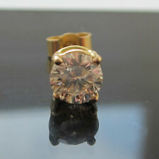 New Mens 1/5 One fifth of carat .20ct Diamond Single 18ct Gold Stud Earring.