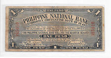 Philippines Emergency Currency Cebu Currency Committee 1 Peso CS Dulag # 985010