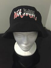 Maori Kia Kaha Bucket Hat Black Lge/ XL Bucket Hat New Zealand Kiwi Hat