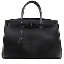 Rouven BLACK NERO così DARK icone City BOX 40 Pelle Liscia Tote Bag Borsa