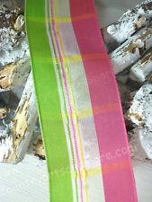 1 Meter, Ribbon, Band, Geschenkband, Grün Pink, Taft Satin,  Drahtkante, 40 mm,