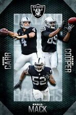 OAKLAND RAIDERS - TEAM POSTER - 22x34 NFL FOOTBALL CARR MACK COOPER 15025