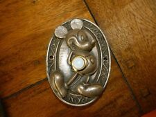 Disney Mickey Mouse Wired Doorbell Plate Prop Replica Bronze Cold Cast..