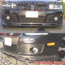 05-10 VW GTI Jetta MK5 ABT Style Front Bumper Lip (Carbon)