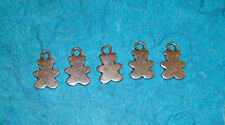 Pendant Teddy Bear Charms Silhouette Charms Toys Charms Lot of 5 Animal Charms