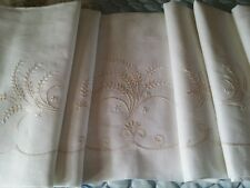Parure LENZUOLA MATRIMONIALI IN LINO RICAMATE A MANO hand-embroidered sheets