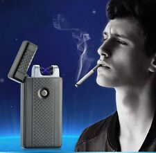 Gifts USB Rechargeable Dual Arc Lighters Electronic Windproof Cigarette Lighter