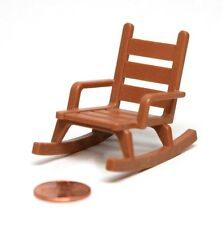 "Playmobil Miniature Dollhouse Western Pioneer ""Wood"" Rocking Chair Furniture"