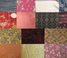 2 lb Mix Vintage Japanese Kimono Fabric Bundle Mostly Silk -  for Crafting