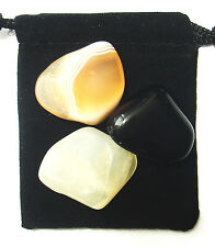 SCORPIO ZODIAC / ASTROLOGICAL Tumbled Crystal Healing Set =3 Stones+ Pouch+ Card