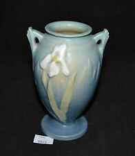 ThriftCHI ~ Roseville Small Vase w Two Handles White Lily Design