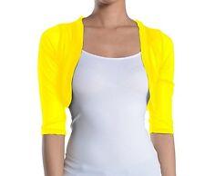 Fashion Secrets Juniors Sheer Bolero Mesh Chiffon Shrug Jacket Cardigan 3/4 slv