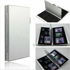 Silver Aluminum Micro SD TF MMC Memory Card Storage Box Protecter Case Holder