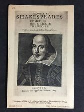 RP Postcard - Shakespeare, Title Page For Plays 1623 #S69