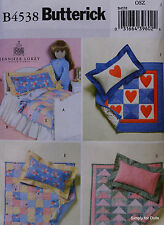 """Butterick 4538 Sewing PATTERN for 18"""" American Girl DOLL ACCESSORIES Bedding OOP"""