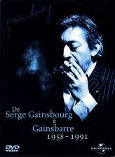 GAINSBOURG, DE SERGE GAINSBOURG A GAINSBARRE 1958-1991, 2 DVD COFFRET ED (NEW)